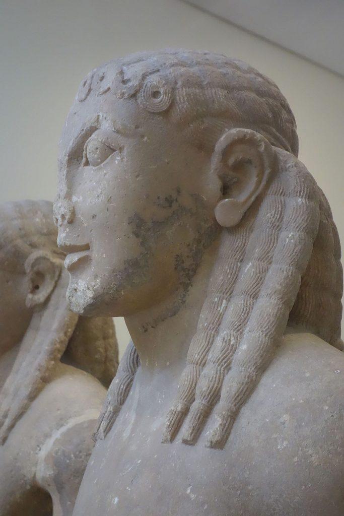 Storia dei dreadlocks su Dreadhead Italia: Statua greca con dreadlocks